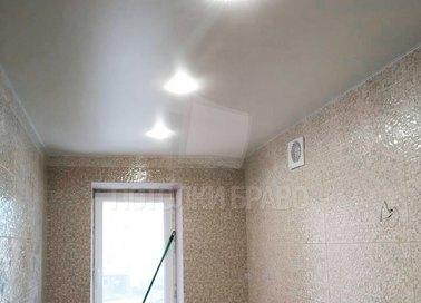 Матовый белый натяжной потолок в ванную комнату НП-1433