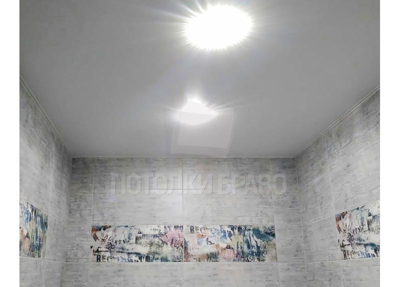 Матовый белый натяжной потолок с подсветкой НП-1434