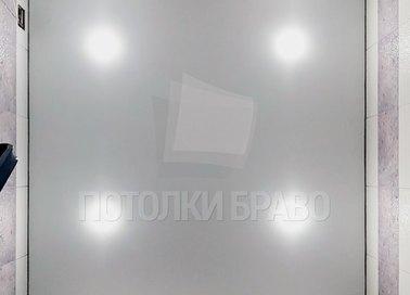Матовый серый натяжной потолок в туалет НП-1442