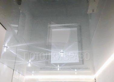 Современный глянцевый натяжной потолок с подсветкой НП-1453 - фото 2