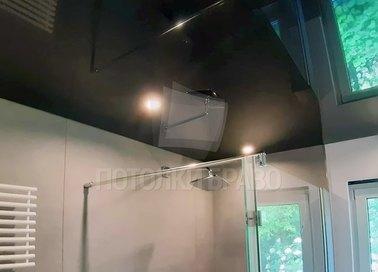 Черный зеркальный натяжной потолок для ванной комнаты НП-1457 - фото 3
