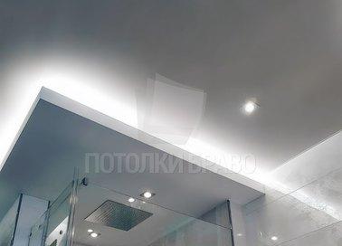 Матовый белый натяжной потолок в стиле Арт-деко НП-1472
