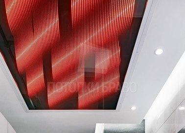 Разноцветный матовый натяжной потолок в стиле ампир НП-1487