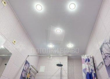 Матовый натяжной потолок с подсветкой для ванной комнаты НП-1505
