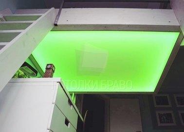 Салатовый натяжной потолок НП-1508