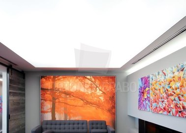 Матовый натяжной потолок с глянцевой подсветкой НП-1511