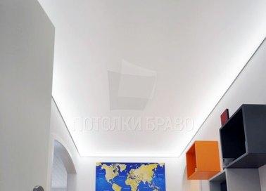 Белый матовый натяжной потолок с подсветкой НП-1515
