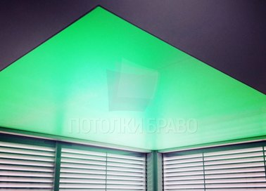 Зеленый матовый натяжной потолок НП-1521