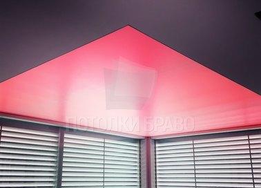 Красный матовый натяжной потолок НП-1522