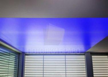 Синий матовый натяжной потолок НП-1524 - фото 2