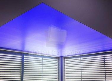 Синий матовый натяжной потолок НП-1524