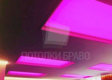 Черный матовый натяжной потолок с зеленой подсветкой НП-1535 - фото 2