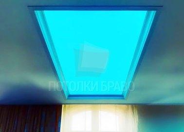 Черный матовый натяжной потолок с зеленой подсветкой НП-1535 - фото 3