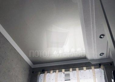 Серый матовый натяжной потолок НП-1553