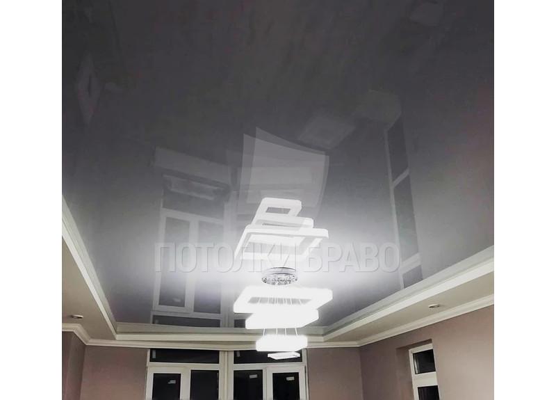 Фактурный серый натяжной потолок НП-1566