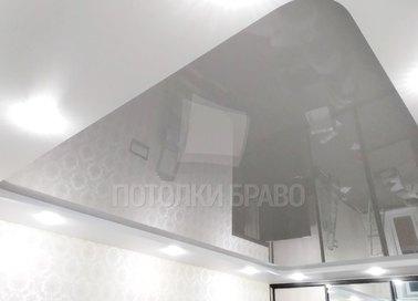 Матовый серый натяжной потолок НП-1575