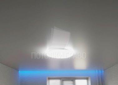 Матовый серый натяжной потолок с подсветкой НП-1580