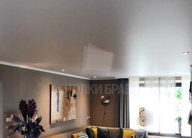 Серый матовый натяжной потолок для квартиры НП-1583