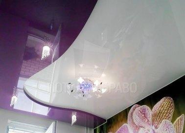 Волнообразный двухуровневый натяжной потолок НП-1592