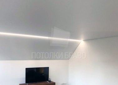 Матовый натяжной потолок с подсветкой под углом НП-1601