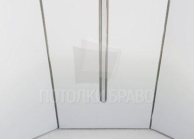 Белый матовый натяжной потолок под углом для мансарды НП-1608 - фото 3