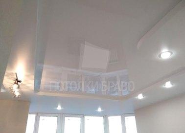 Современный молочный матовый натяжной потолок НП-1630