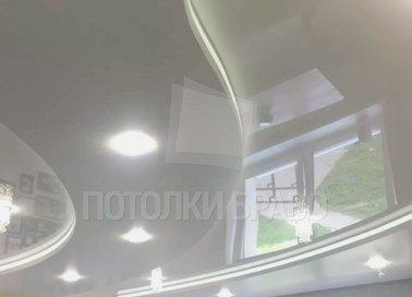 Волнообразный белый натяжной потолок НП-1633