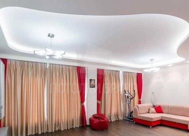 Роскошный белый матовый натяжной потолок НП-1648