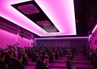 Розовый матовый натяжной потолок для общественного помещения НП-1657 - фото 2