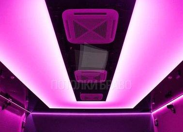 Розовый матовый натяжной потолок для общественного помещения НП-1657