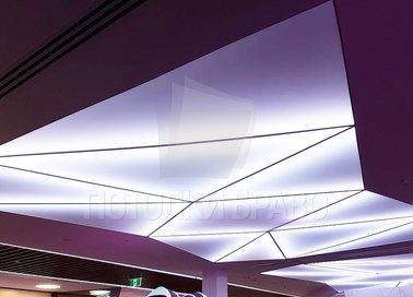 Необычный фиолетовый матовый натяжной потолок НП-1664