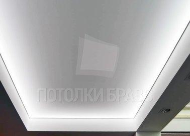 Серый матовый натяжной потолок для фойе НП-1666