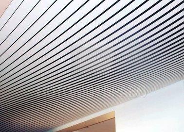 Черно-белый ребристый натяжной потолок НП-1667 - фото 2