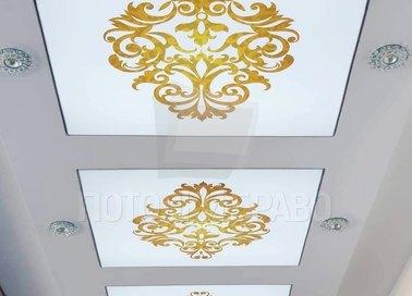 Матовый натяжной потолок в стиле рококо НП-1680