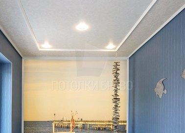 Белый матовый натяжной потолок под кожу НП-1716