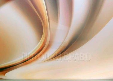 Бежевый абстрактный матовый натяжной потолок НП-1723
