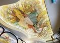 Матовый натяжной потолок с изображением девушки в камышах НП-1728