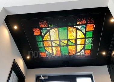 Матовый натяжной потолок с мозаичным узором НП-1734