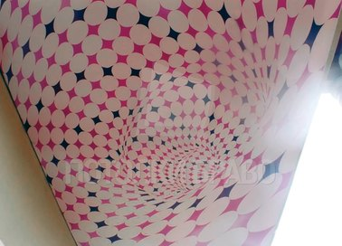 Матовый розово-черный узор натяжной потолок для балкона НП-1740