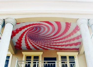 Матовый натяжной потолок с иллюзией шариков для балкона НП-1741