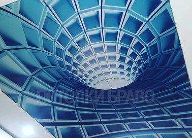 Матовый натяжной потолок с визуальным эффектом воронки НП-1742