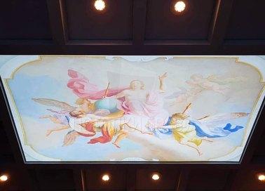 Матовый натяжной потолок в стиле барокко НП-1751