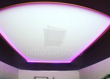 Матовый натяжной потолок с фиолетовой подсветкой НП-1811