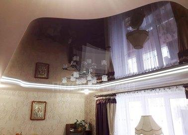 Матовый черный натяжной потолок под люстру НП-1836 - фото 2