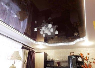 Матовый черный натяжной потолок под люстру НП-1836