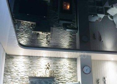 Черно-белый матовый натяжной потолок НП-1843