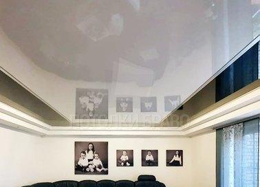 Черно-молочный глянцевый натяжной потолок НП-1857 - фото 2