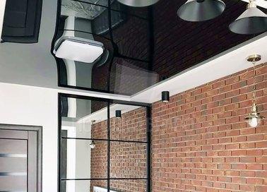 Двухуровневый глянцевый натяжной потолок для прихожей НП-1865