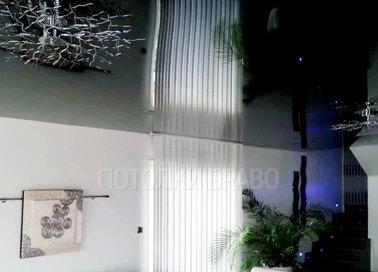 Зеркальный черный глянцевый натяжной потолок НП-1874