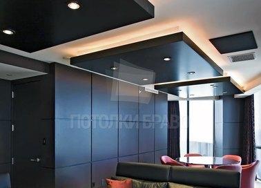 Сложный сатиновый натяжной потолок для ресторана НП-1883